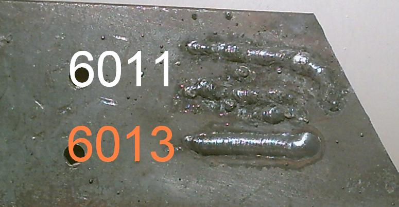 6011 vs 6013 welding rod